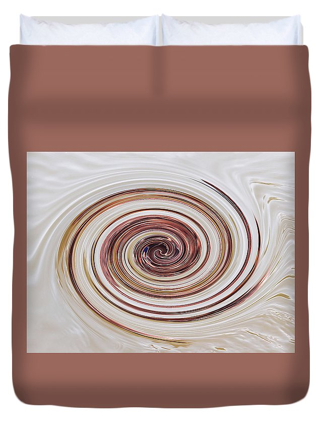 Brown And Cream Abstract Duvet Cover featuring the photograph Cappucchino Whip by Gill Billington