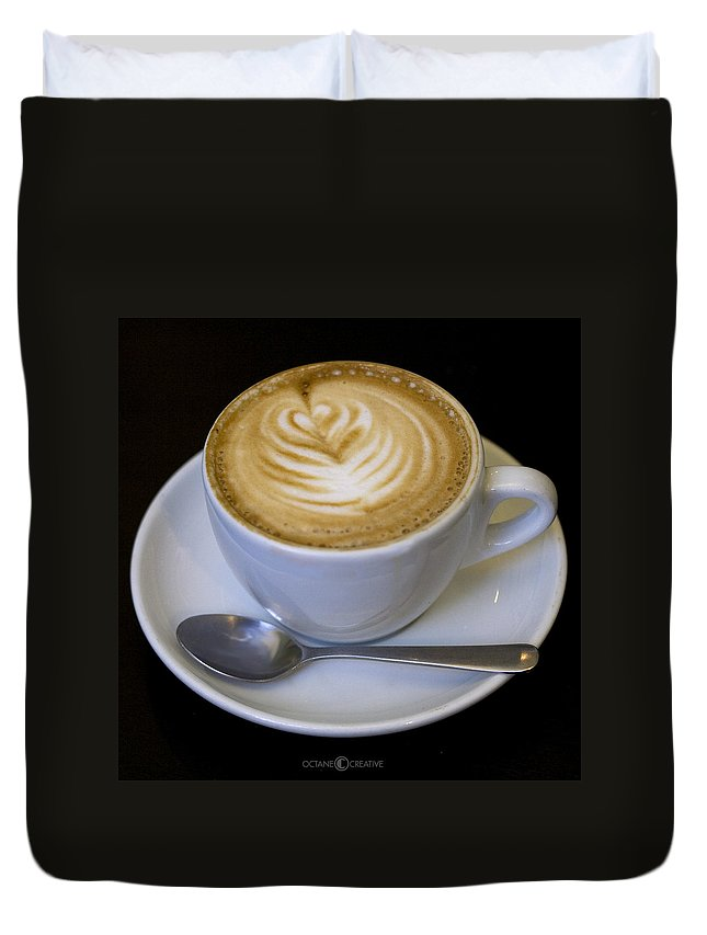 Coffee Duvet Cover featuring the photograph Cappuccino by Tim Nyberg