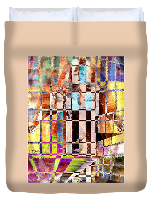 Abstract Duvet Cover featuring the photograph Captivia by Seth Weaver