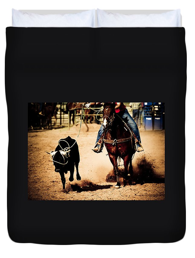 Western Duvet Cover featuring the photograph Capture by Scott Sawyer