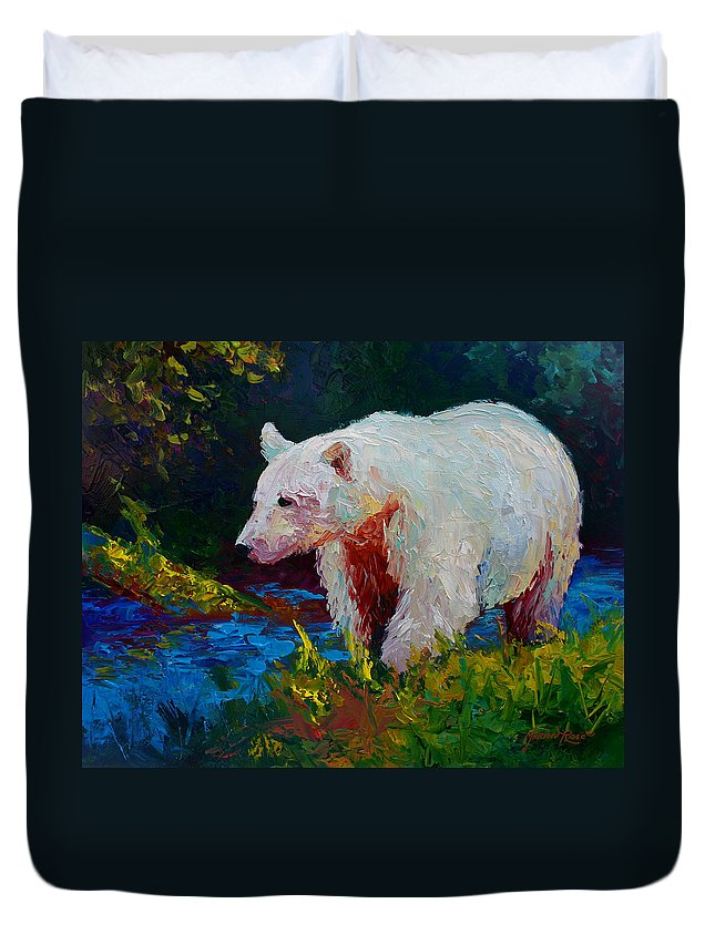 Western Duvet Cover featuring the painting Capture The Spirit by Marion Rose