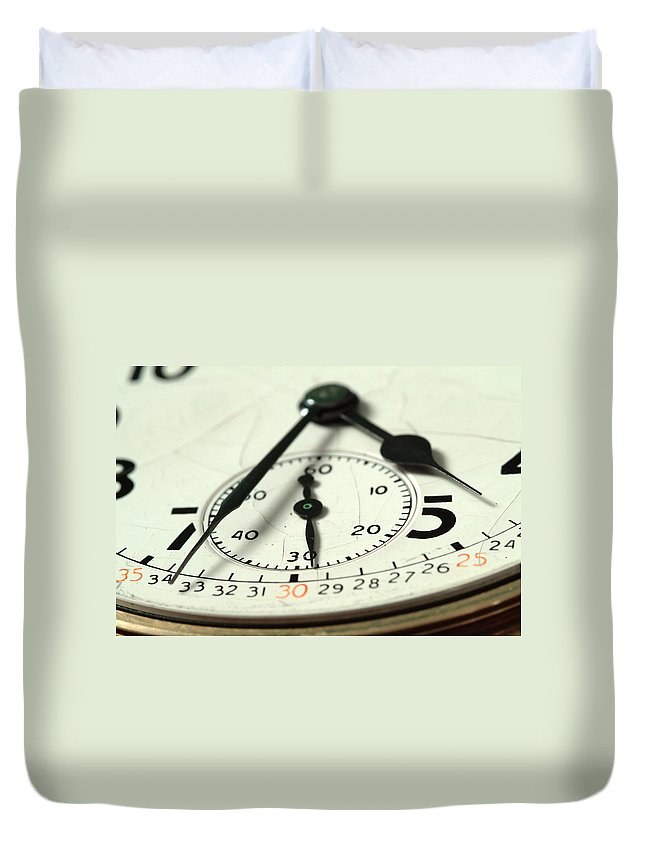 Watch Duvet Cover featuring the photograph Captured Time by Michael McGowan