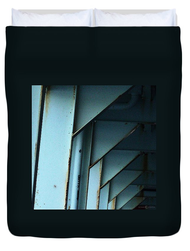 Ferry Duvet Cover featuring the photograph Car Ferry by Tim Nyberg
