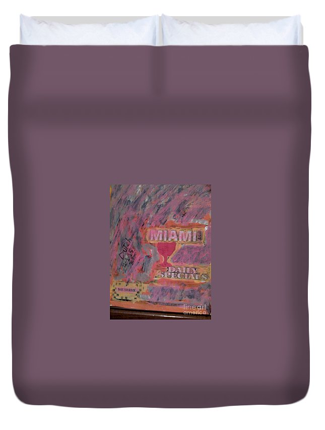 Duvet Cover featuring the painting Car Wash by Dutch MARCHING