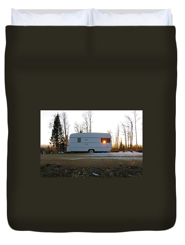 Caravan Duvet Cover featuring the photograph Caravan by Are Lund