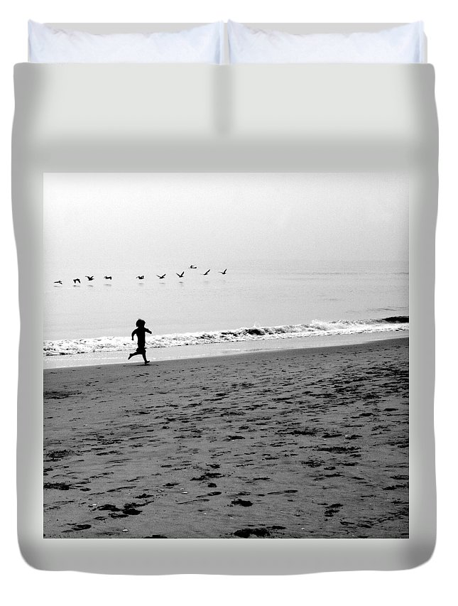 Photograph Duvet Cover featuring the photograph Carefree by Jean Macaluso