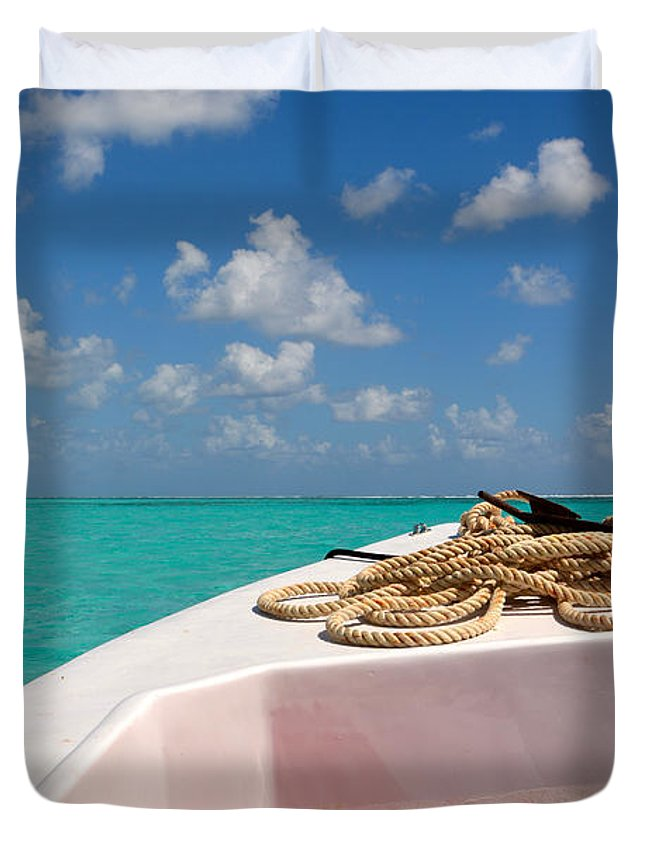 Belize Duvet Cover featuring the photograph Caribbean by Donna Shahan