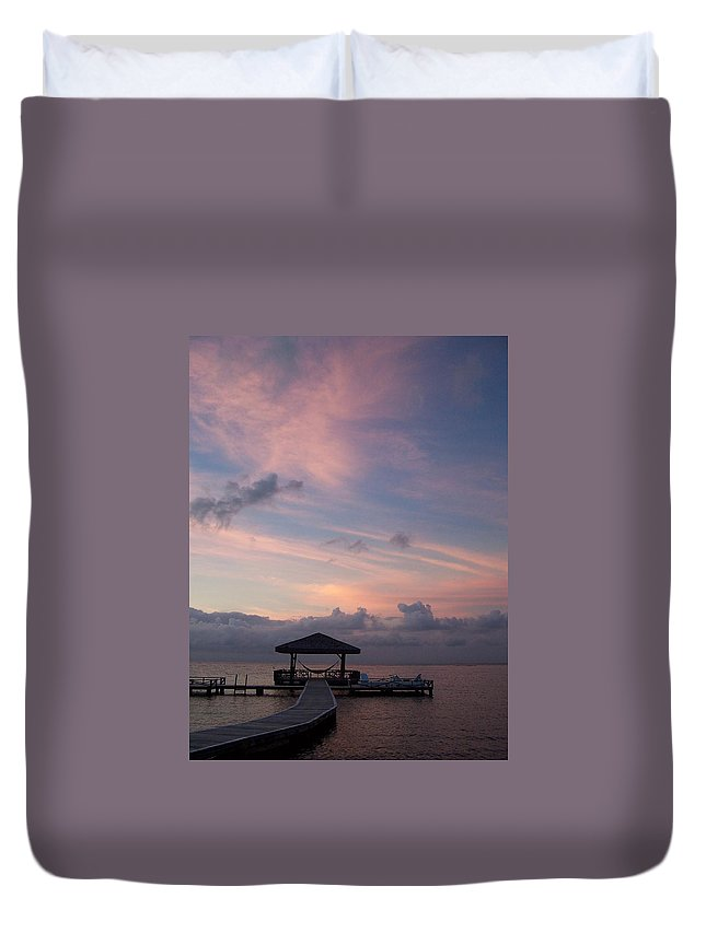 Ocean Duvet Cover featuring the photograph Caribbean Sunrise by Gale Cochran-Smith