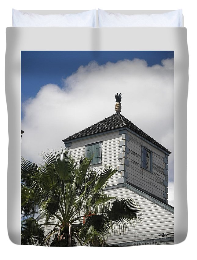 Caribbean Duvet Cover featuring the photograph St. Maarten Welcome by Neil Zimmerman