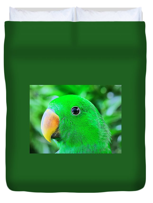 Parrots Duvet Cover featuring the photograph Carlos Avila by Carlos Avila