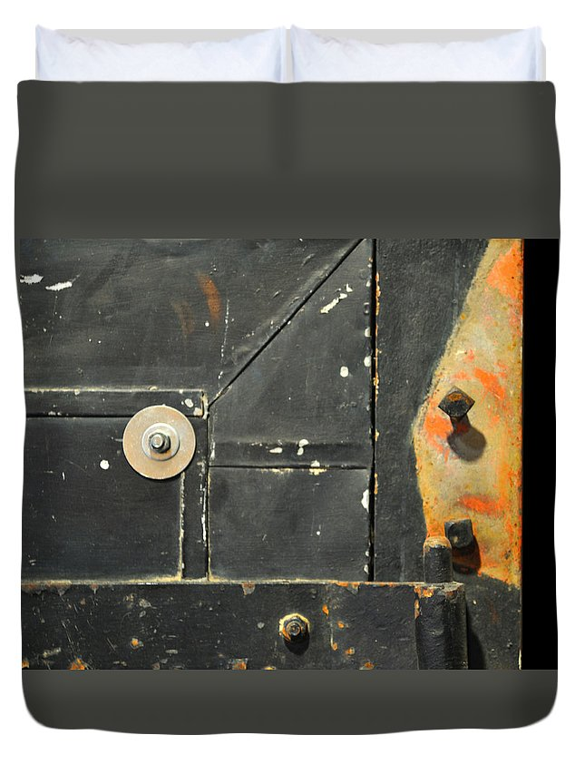 Firedoor Duvet Cover featuring the photograph Carlton 10 - Firedoor Detail by Tim Nyberg