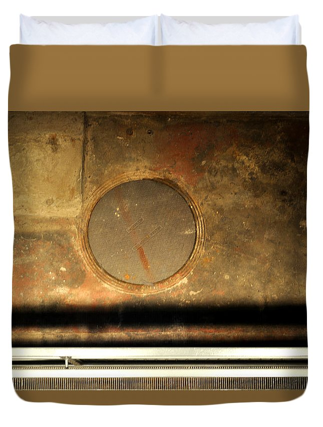 Manhole Duvet Cover featuring the photograph Carlton 15 - Square Circle by Tim Nyberg