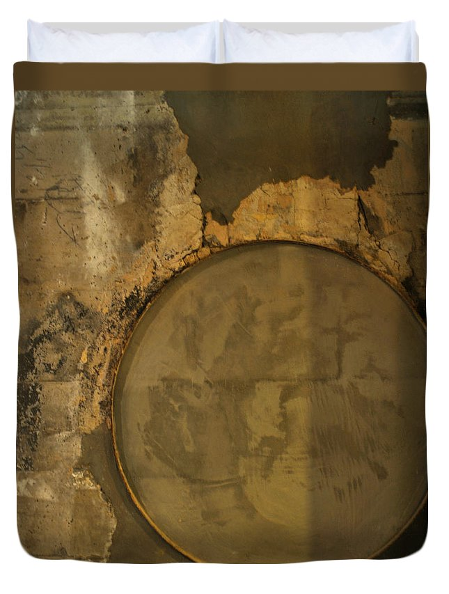 Concrete Duvet Cover featuring the photograph Carlton 3 - Abstract Concrete by Tim Nyberg