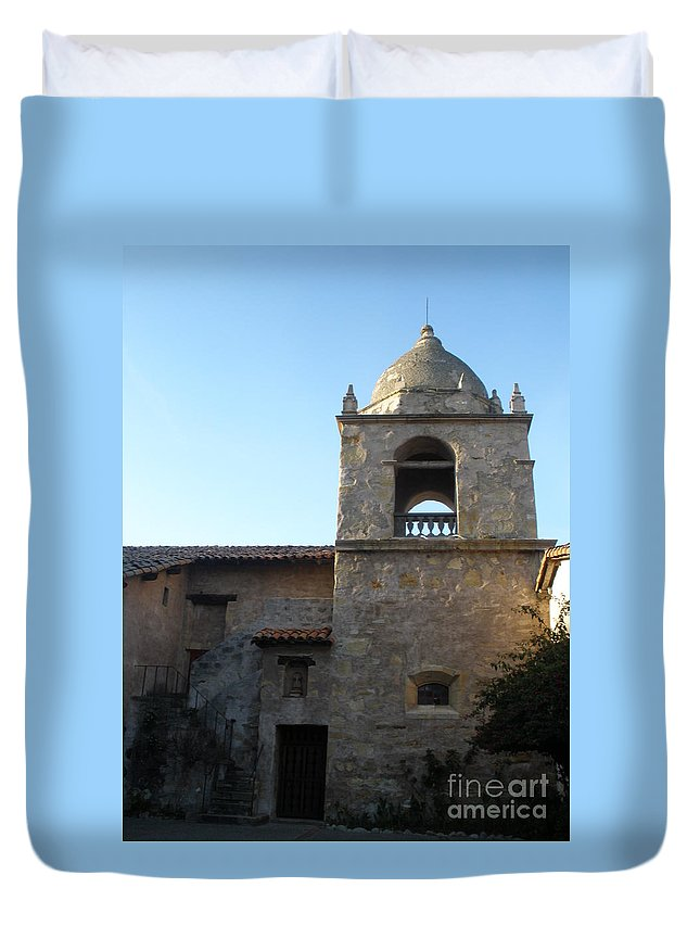 Mission Duvet Cover featuring the photograph Carmel Mission by Jeanie Watson