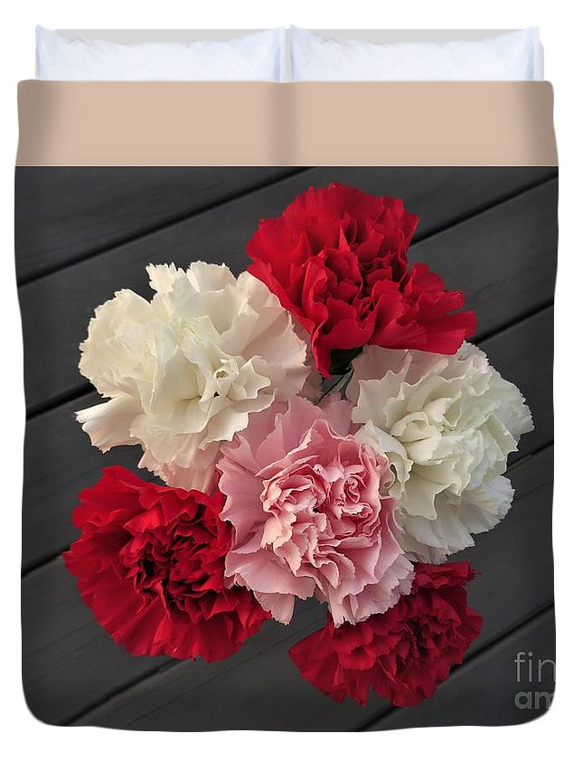 Carnation Duvet Cover featuring the photograph Carnations by Scenic Sights By Tara
