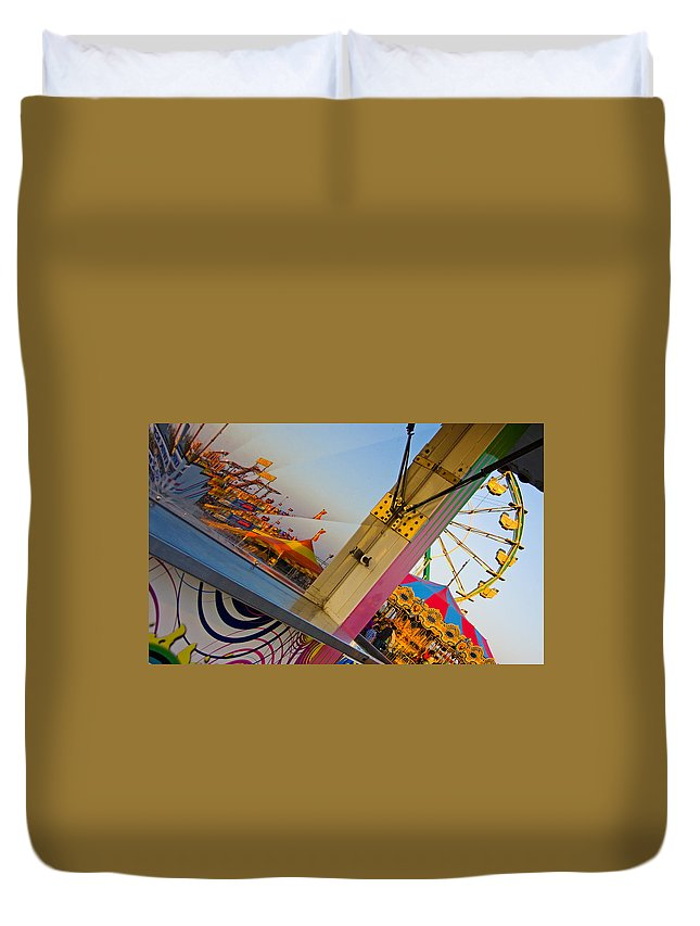 Carnival Duvet Cover featuring the photograph Carnival 1 by Skip Hunt