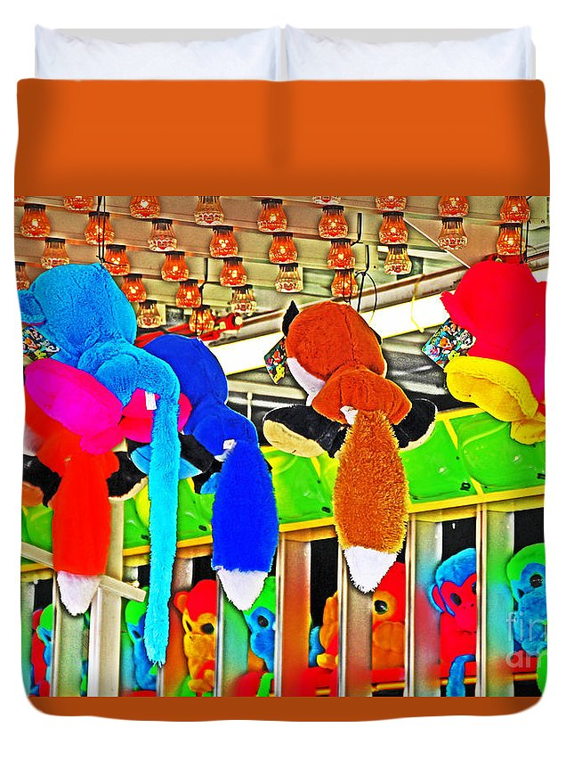 Carnival Duvet Cover featuring the photograph Carnival Critters by David Frederick