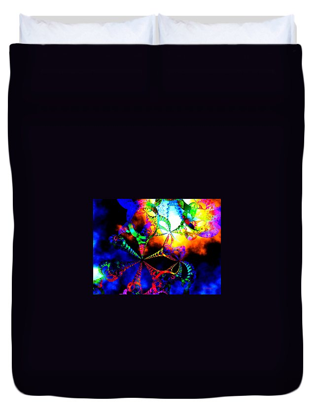 Rainbow Duvet Cover featuring the digital art Carnival Ride by Claire Bull