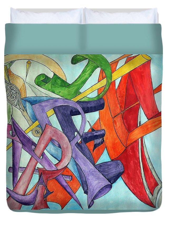Carpe Diem Duvet Cover featuring the painting Carpe Diem by Helmut Rottler