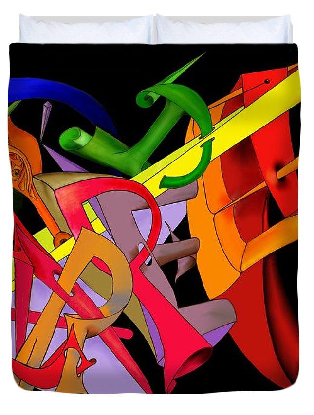 'carpe Diem' Duvet Cover featuring the digital art Carpe Diem II by Helmut Rottler
