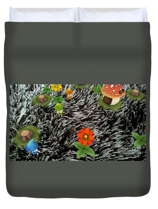 Artistic Duvet Cover featuring the photograph Carpet Under Water by Darmawan Darmawan