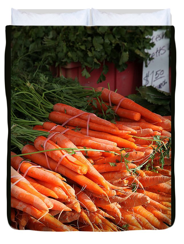 Stilllife Duvet Cover featuring the photograph Carrot Bounty by Portraits By NC