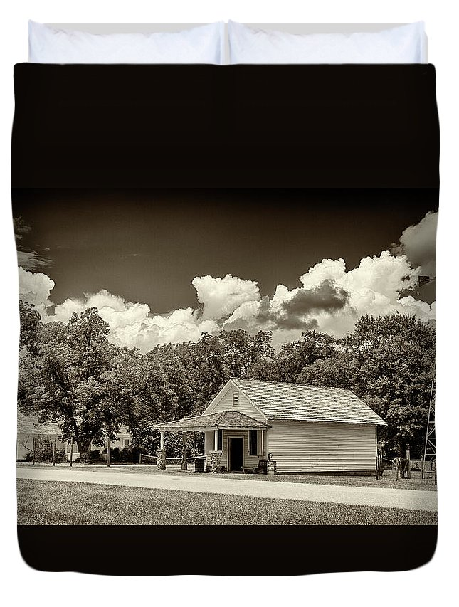 Jimmy Carter Duvet Cover featuring the photograph Carter Boyhood Home by Stephen Stookey
