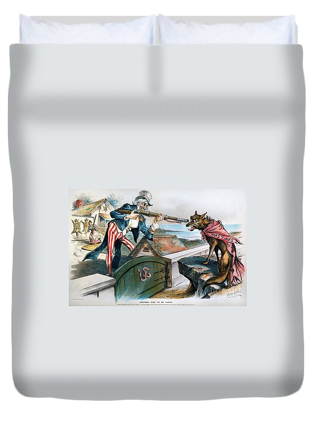 1893 Duvet Cover featuring the photograph Cartoon: Panic Of 1893 by Granger