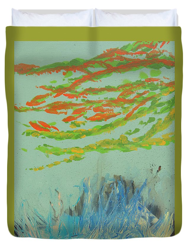 Florida Keys Duvet Cover featuring the painting Carysfort Reef by Max Bowermeister