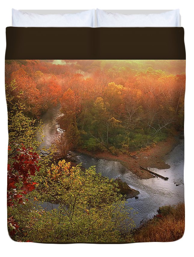 Duvet Cover featuring the photograph Cascade Valley Sunrise by Rob Blair