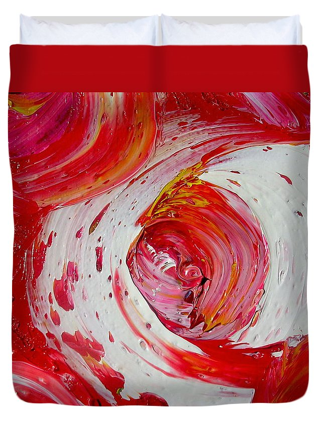 Duvet Cover featuring the painting Casino by Dawn Hough Sebaugh