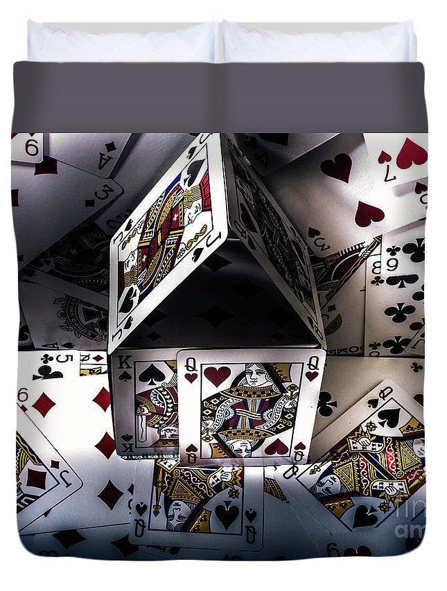 Building Duvet Cover featuring the photograph Casino House by Jorgo Photography - Wall Art Gallery