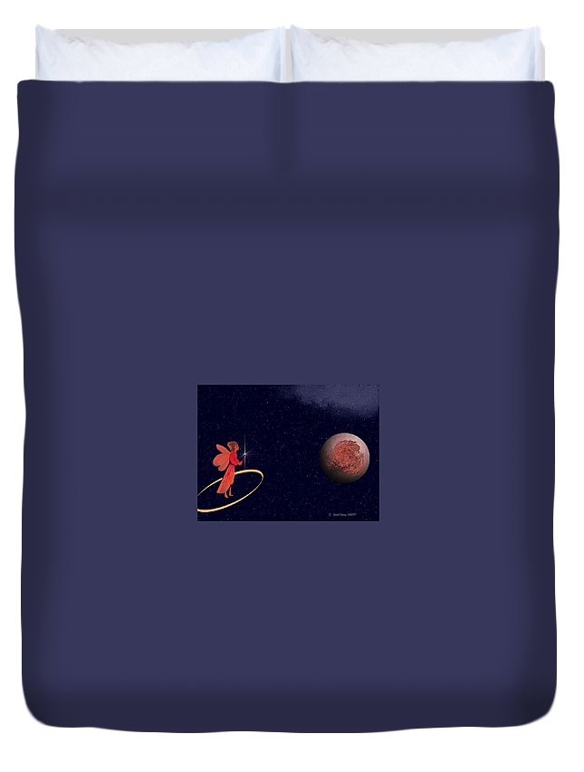Fairy Duvet Cover featuring the digital art Casting A Spell by Jewel Savoy