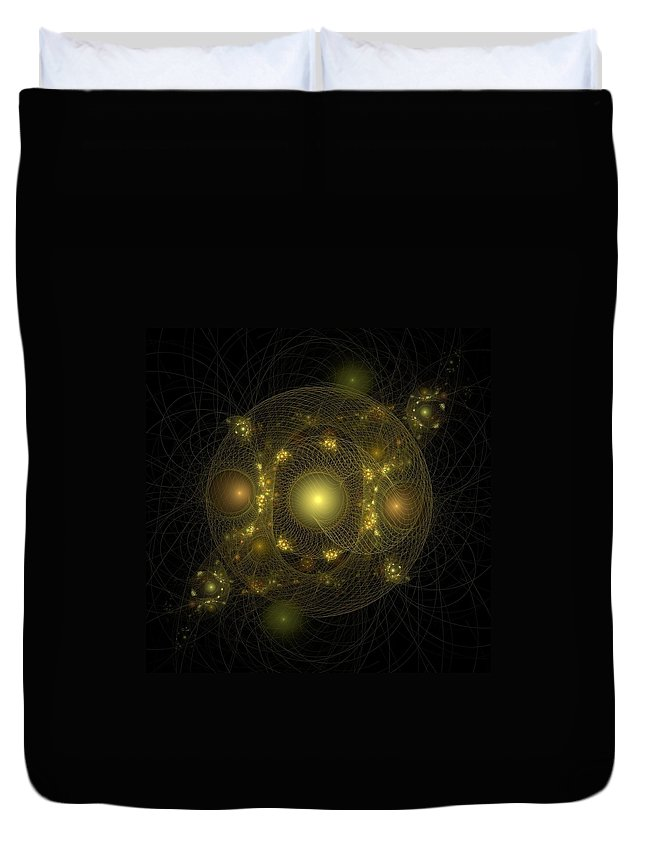 Fractal Duvet Cover featuring the digital art Casting Nets For Pearls by Richard Ortolano