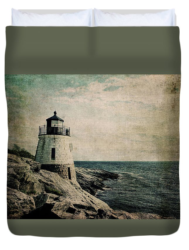 Castle Hill Lighthouse Duvet Cover featuring the photograph Castle Hill 2 by Emily Kay
