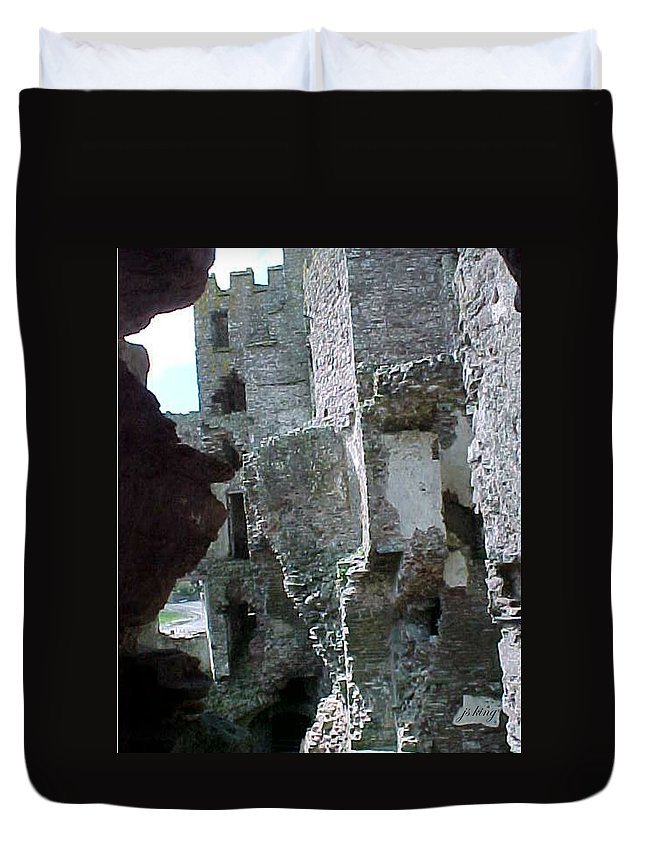 Photo Duvet Cover featuring the photograph Castle Keep by Jacquie King