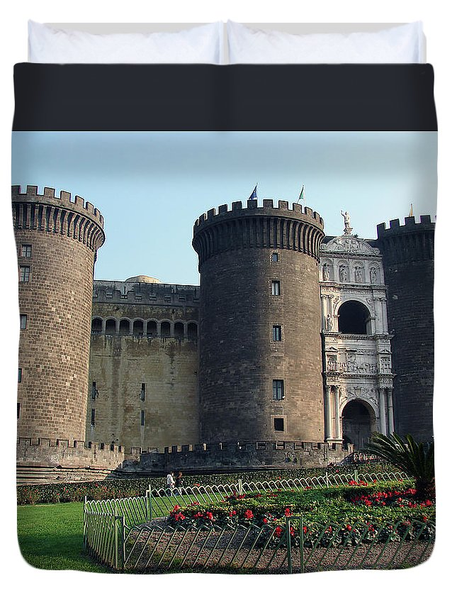 Castle Nuovo Duvet Cover featuring the photograph Castle Nuovo Naples Italy by Brett Winn