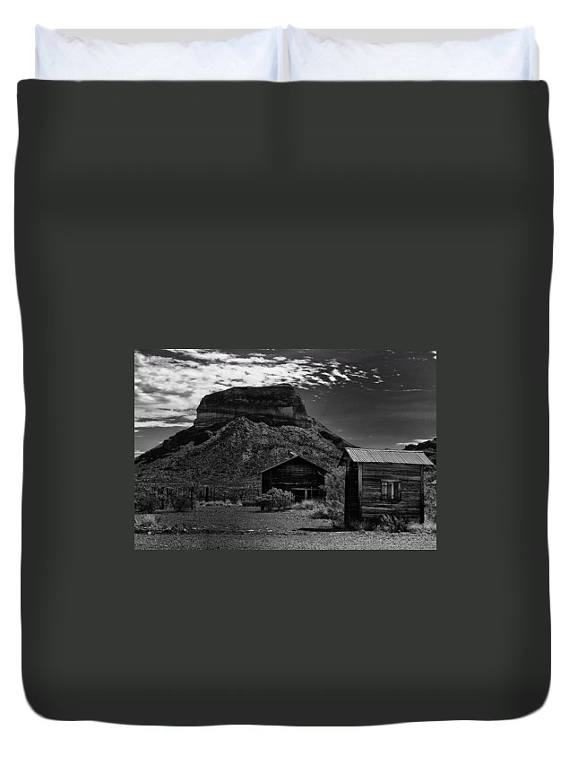 Castolon Duvet Cover featuring the photograph Castolon Ghost Town by Renee Hong