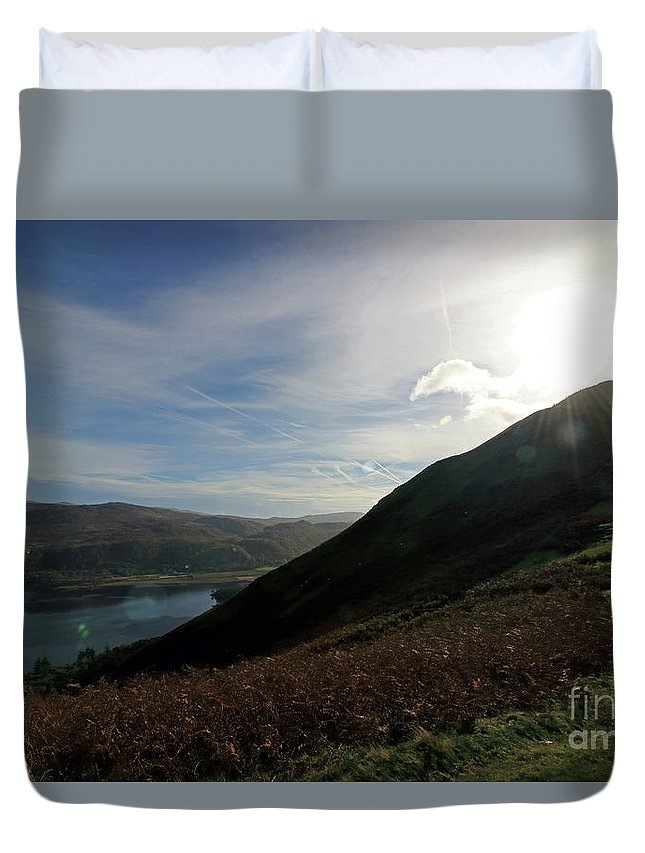 Cat Bells In Cumbria Uk Lake District Duvet Cover featuring the photograph Cat Bells In Cumbria Uk by Julia Gavin