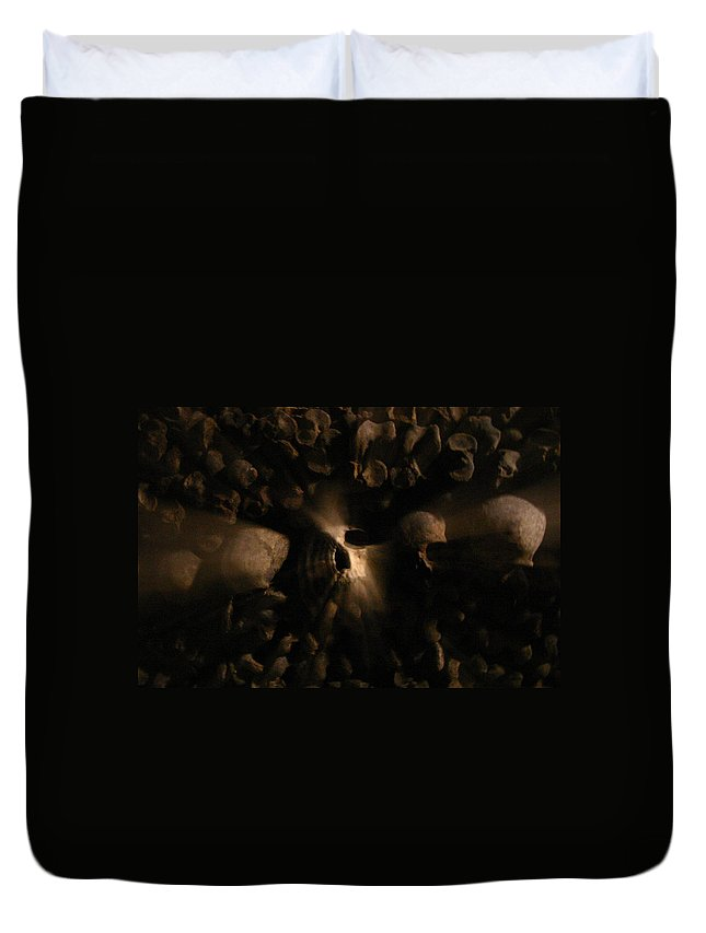 Duvet Cover featuring the photograph Catacombs - Paria France 3 by Jennifer McDuffie