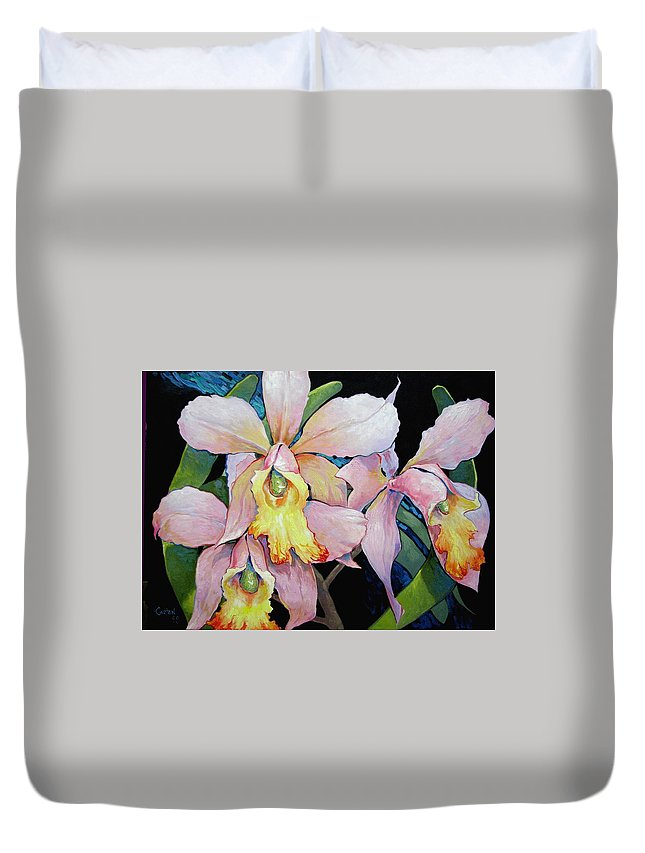 Catalya Duvet Cover featuring the painting Catalya Arrangement by Jerrold Carton