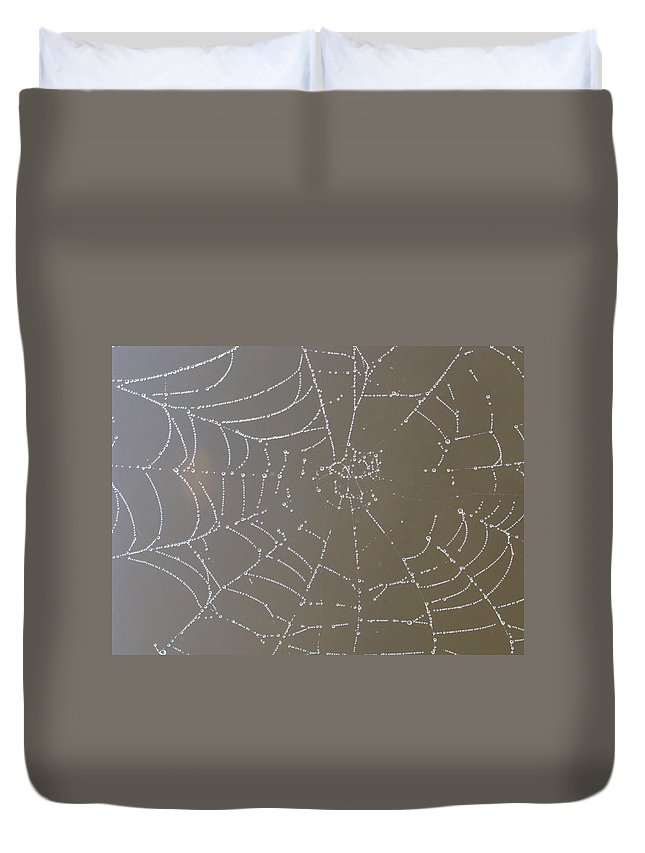 Diamond-like Duvet Cover featuring the photograph Catching Diamonds by Bill Tomsa