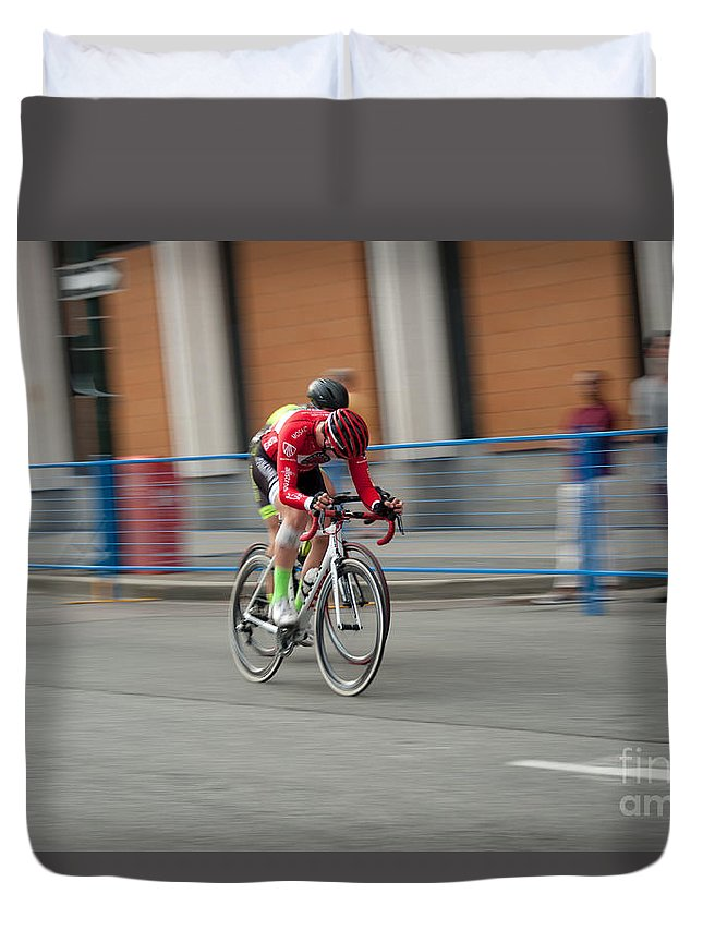 2 Wheeled Duvet Cover featuring the photograph Catching My Breath. by Wayne Wilton