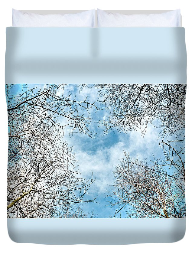 Art Card Duvet Cover featuring the photograph Cathedral by Dean Birinyi