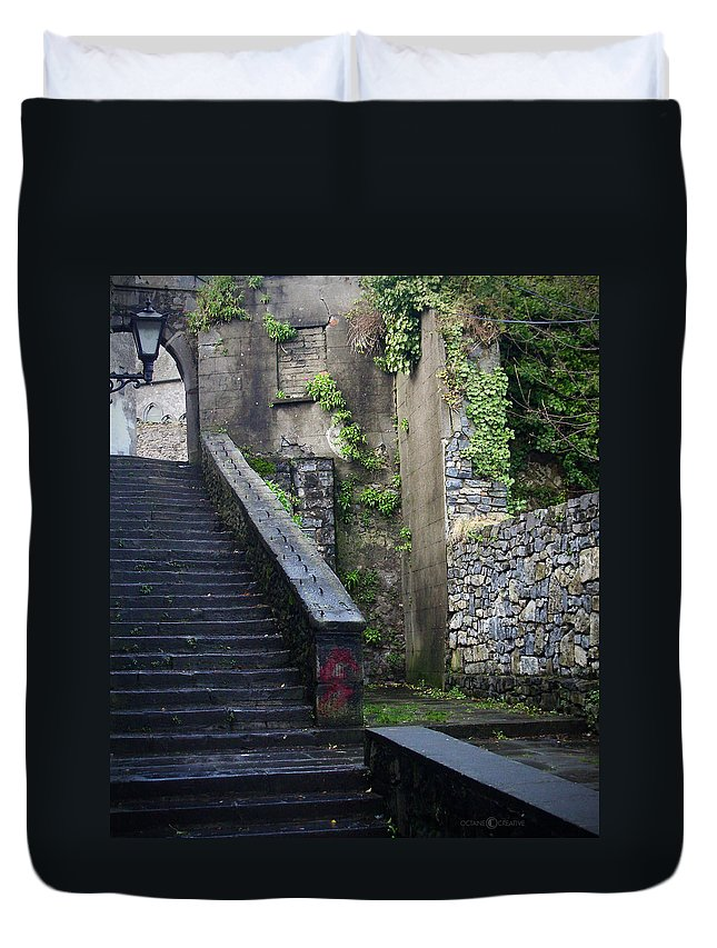 Stairs Duvet Cover featuring the photograph Cathedral Stairs by Tim Nyberg