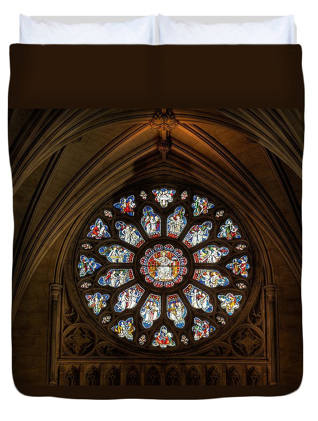 Cathedral Duvet Cover featuring the photograph Cathedral Window by Adrian Evans
