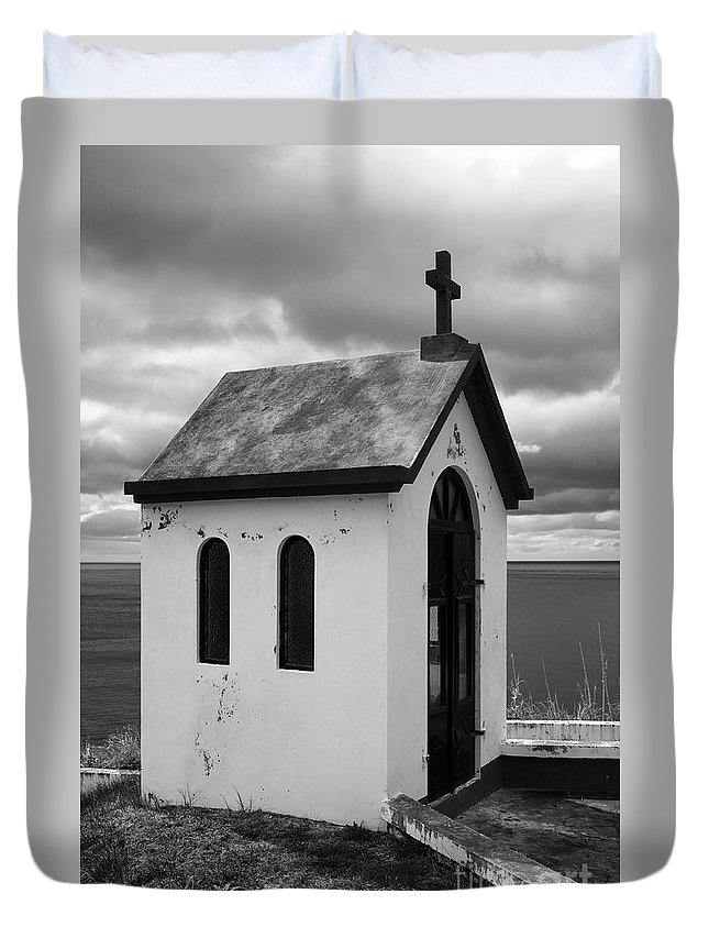 Azores Duvet Cover featuring the photograph Catholic Chapel by Gaspar Avila