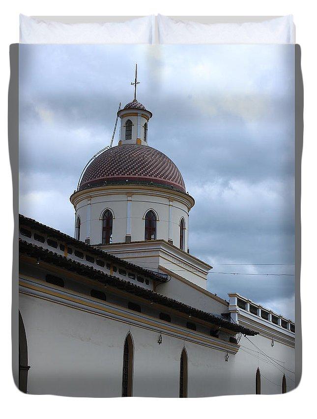 Church Duvet Cover featuring the photograph Catholic Church by Robert Hamm