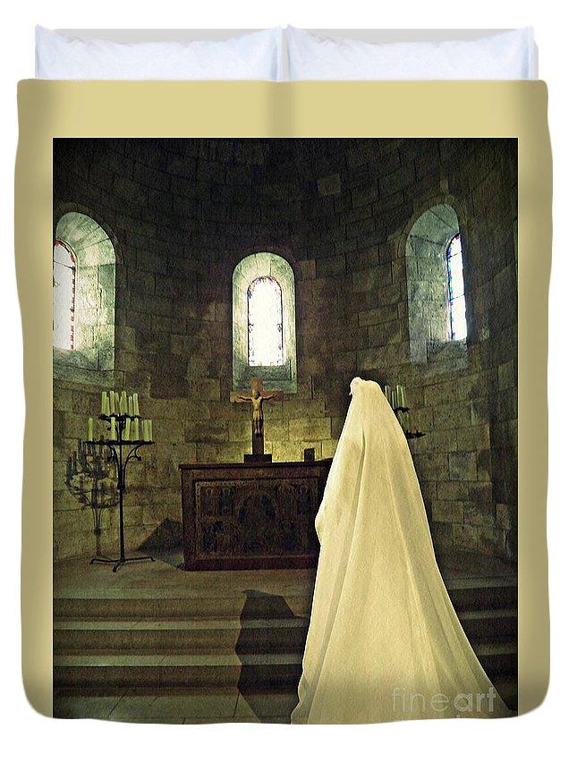 Mannequin Duvet Cover featuring the photograph Catholic Imagination Fashion Show 13  by Sarah Loft