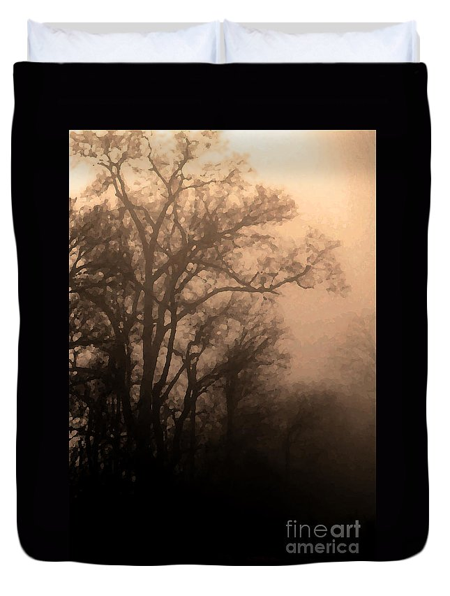 Soft Duvet Cover featuring the photograph Caught Between Light And Dark by Amanda Barcon